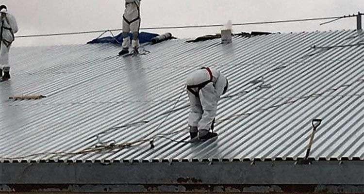 Reparación de tejados en fábricas y naves