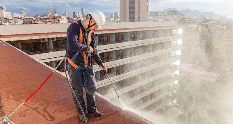 Limpieza industrial de cubiertas